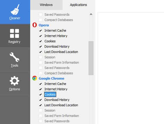 Remove browser porn history with CCLeaner