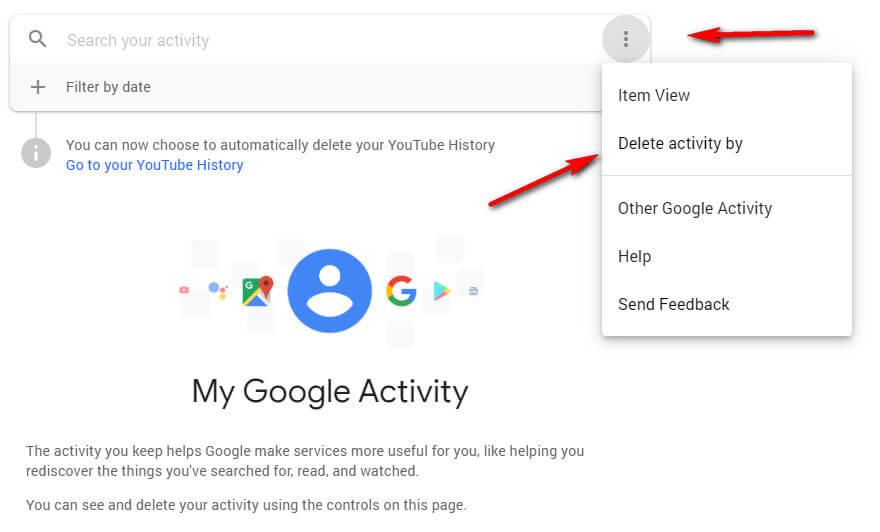 step 1 delete google porn search